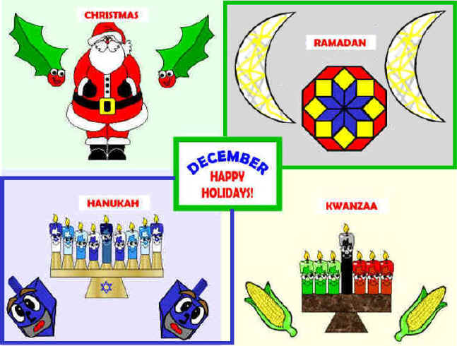 December Multi-Cultural Holidays Bulletin Board Projects