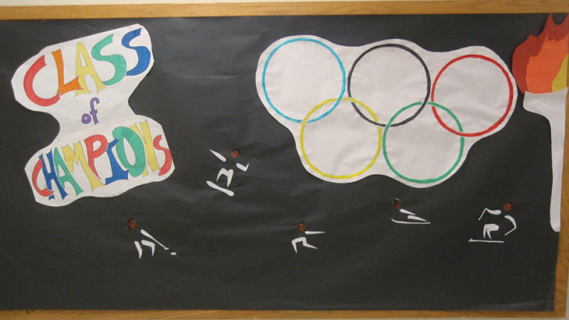 Class Of Champions Themed Bulletin Board Suggestion