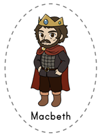 Macbeth feltboard images